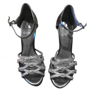 Gina Platform high heel silver