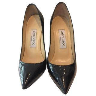 Jimmy Choo Black Patent Leather Heel