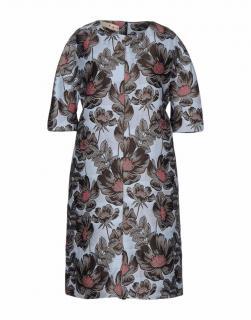 Marni Blue Brocade Floral knee length dress