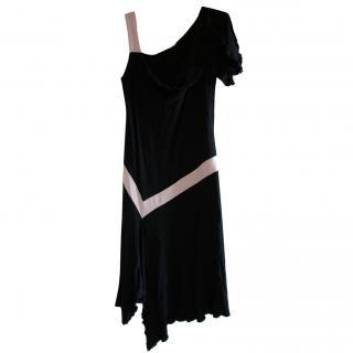 Diane Von Furstenberg satin black dress
