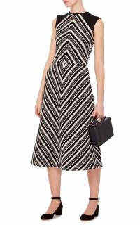 Martin Grant Geometric Wool dress