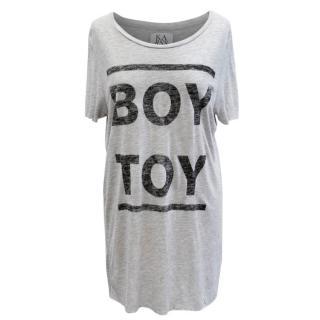 Zoe Karssen Grey Boy Toy T-Shirt
