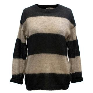 Etoile Isabel Marant Brown and Black Striped Jumper