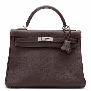 Hermes Chocolate  Kelly Bag