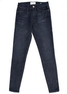 FRAME Dark Wash Le High Skinny Jeans