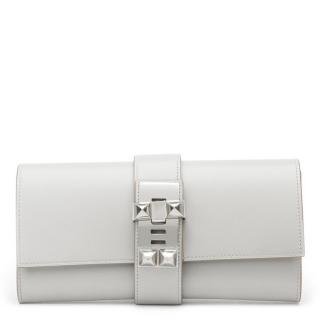 Hermes Grey Medor Clutch