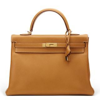 Hermes Tan Kelly Bag 35cm