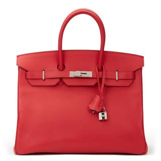 Hermes Red Birkin 35 cm