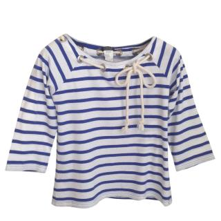 Sonia Rykiel navy cotton top