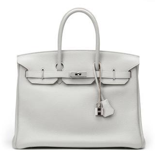 Hermes Grey Birkin 35 cm