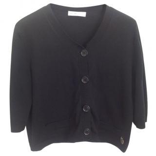 See by Chloe black cotton cardigan