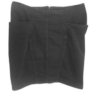 Acne black denim skirt