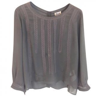 Baum und Pferdgarten Khaki silk blouse