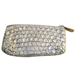 MAJE 'Ottawa' leather gold clutch bag