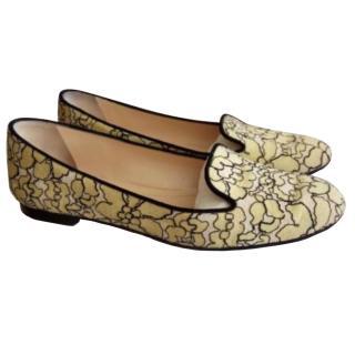 Dior Yellow moccasins
