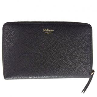 Mulberry Medium Zipped Black Leather Purse
