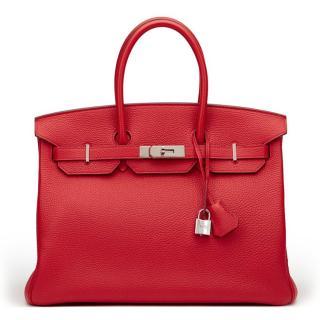 Hermes Red Birkin 35cm