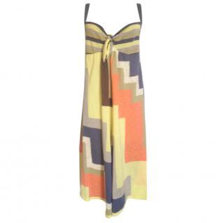 M Missoni yellow multicolor geometric print jumpsuit