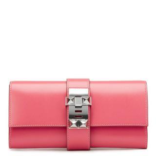 Hermes Pink Medor Clutch