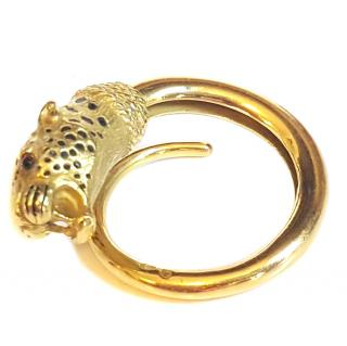 Georges Lenfant French Panther ring 18ct Gold Georges