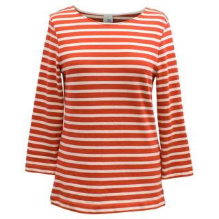 Iris & Ink Red Striped Top