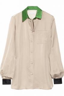 Jonathan Saunders Natural Albany Silk Shirt