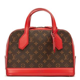 Louis Vuitton Brown and Red Dora Bag