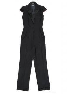 Alexander McQueen Black Short Sleeved Jumpsuit