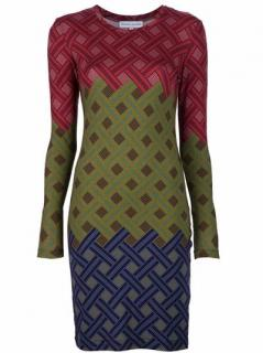 Jonathan Saunders Women's Red Lattice Pattern Dress