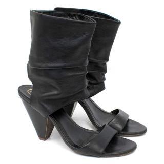 ASH Opium Black Leather Sandals