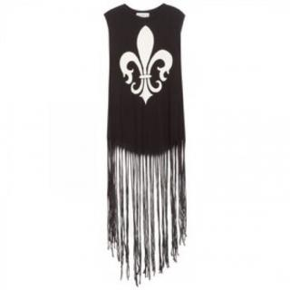 Wildfox Fleur De Lis Fringed Tank Top Sleeveless cotton top by Wildfox