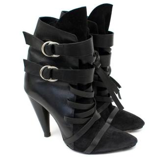 Isabel Marant Black 'Royston' Heeled Ankle Boots