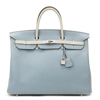 Hermes Light Blue Special Order Birkin 40 cm