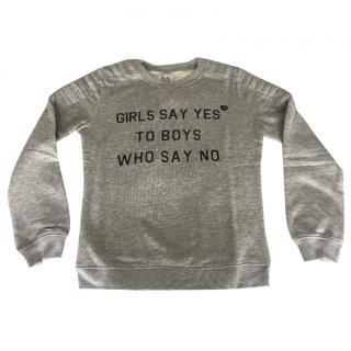 Zoe Karssen Girls say yes to boys who say no sweater