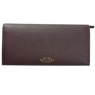 Smythson Brown Leather Wallet
