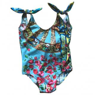 Dolce & Gabbana girls swimming suit