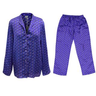 Beautiful Bottoms Blue Circle Print Pyjama Set