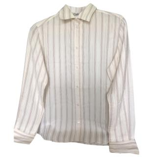 Chloe cream silk shirt