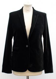 The Kooples Black Velvet Blazer