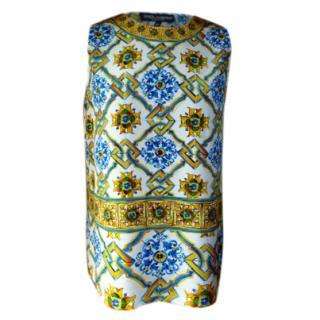 Dolce & Gabbana 'Majolica' Silk Top