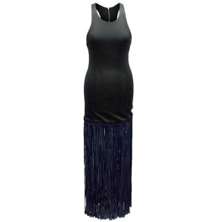 Galvan Fringe Racerback Dress