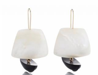 GABRIELLA KISS Iconic Ghost Ship Pearl And Jade Earrings