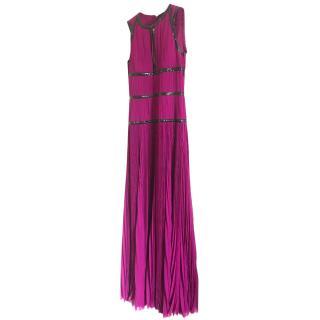 Alexander McQueen Silk Chiffon Gown