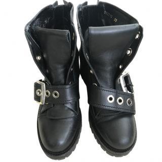 Alexander McQueen biker boots