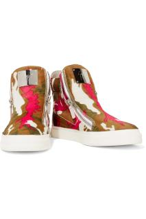 Guiseppe Zanotti printed calf hair high top trainers