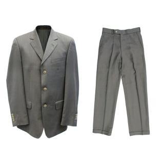 Slava Zaitsev Men's Grey Pinstripe Suit