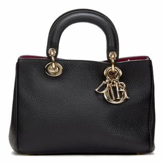 CHRISTIAN DIOR  Small Black Grained DIORISSIMO