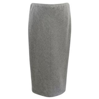 Marc Jacobs Grey Wool Pencil Skirt