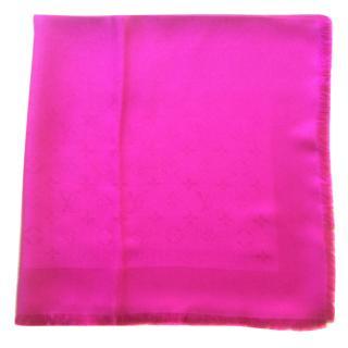 Louis Vuitton Fuchsia Silk Shawl Scarf