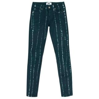 Paige Teal Verdugo Ultra Skinny Tie Dye Jeans